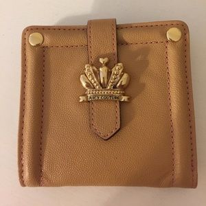 Handbags - Juicy Couture Camel and Pink Wallet - never used!!