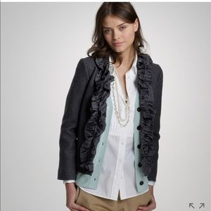 J.crew silk pleated chimea wool jacket