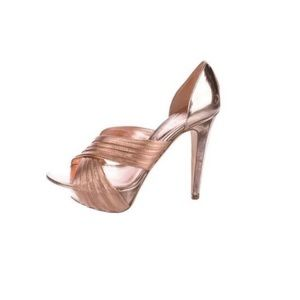 Sergio Rossi d'Orsay Rose Gold  metallic leather