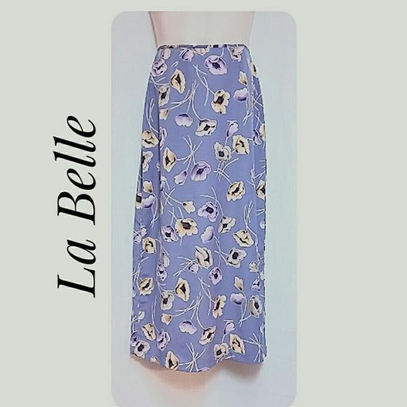 Le Belle Dresses & Skirts - La Belle Floral Lavender Maxi-Skirt Junior Size  9