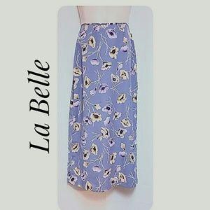 La Belle Floral Lavender Maxi-Skirt Junior Size  9