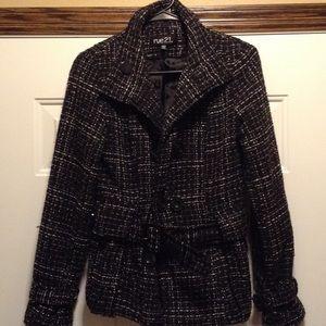 Women's size small black and white pea coat