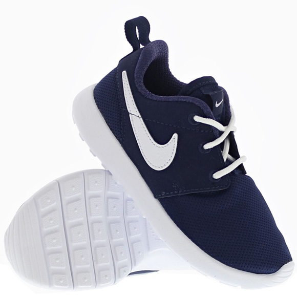 3c2fbbf00bf9d Nike Roshe one navy blue white womens shoes new