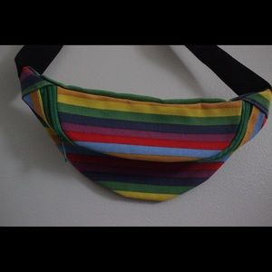Rainbow colorful fanny pack, brand new