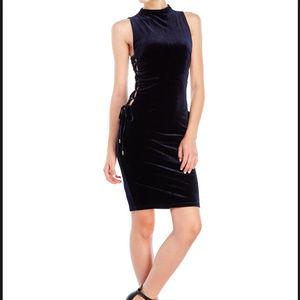 WOW Couture Navy Velvet Dress