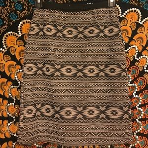 Native Print Mini Skirt