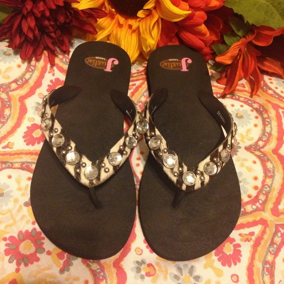 0fb657ff3 Justin Boots Shoes - Western bling flip flops