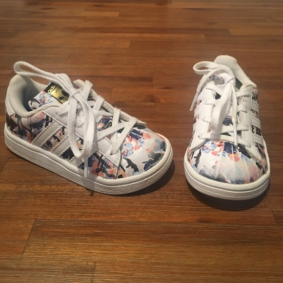 Youth adidas Superstar Floral Athletic Shoe | Shoes