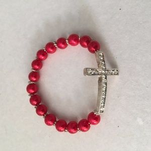 Jewelry - Cut Diamond Bracelet Red