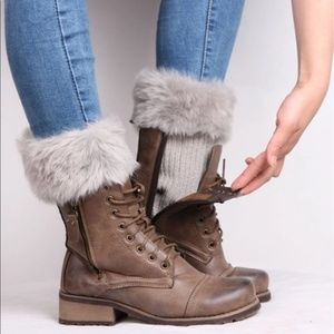 1ce3802e2 Accessories - 2-for-1 BOGOWarm Winter Fur Cuff Knit Boot Toppers