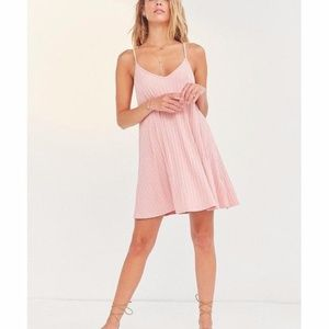 *******SOLD++++++Wide-Ribbed Knit Slip Dress Pink