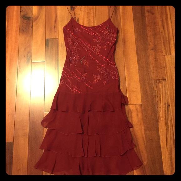 Sue Wong Dresses   Nocturne Deep Red Evening Dress   Poshmark