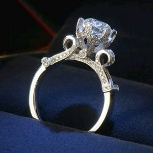 Jewelry - Stunning white topaz 925 silver engagement ring
