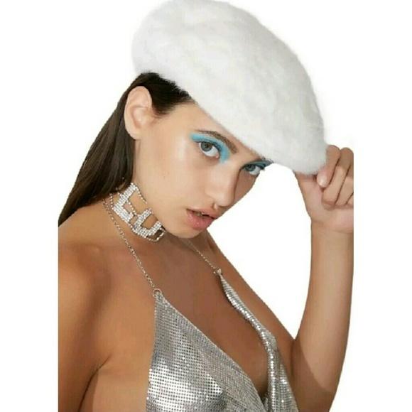 037bd428ce1f3 KANGOL Blue 504 Furgora white angora fur cap hat