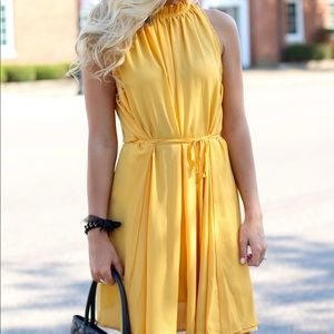 Dresses & Skirts - Golden Tie Dress