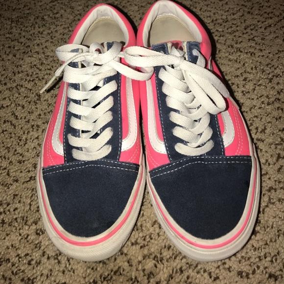 c9db398614 Rare Neon striped pink vans. M 59d6ec5e41b4e0666b00dbc9