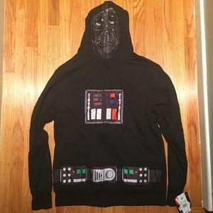 NWT Star Wars Darth Vader Hoodie Zip Up Sweatshirt