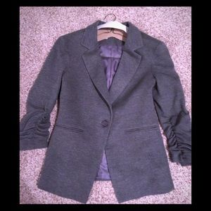 Gibson cinched sleeve 1 button Blazer Gray. Large