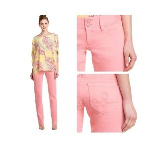 Lilly Pulitzer Worth Pink Straight Leg Denim Jeans