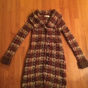 Anthropologie Charlie and Robin plaid sweater