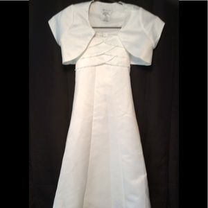 Other - Sz 7 Girls Jr Wedding Dress