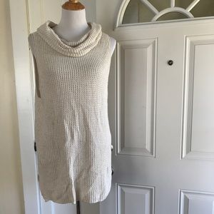 Sonoma waffle-knit cowlneck sweater