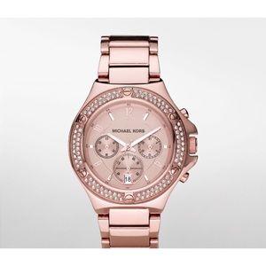 Michael Kors Rose Gold Glitz Oversized Watch