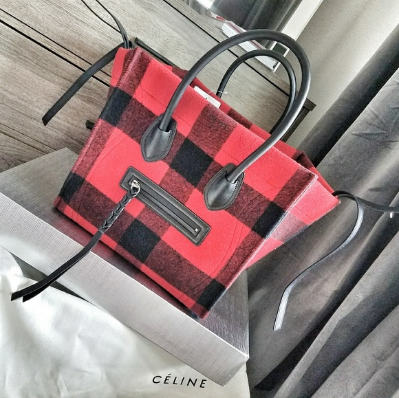 942d3cc369 AUTHENTIC Celine tartan wool phantom bag