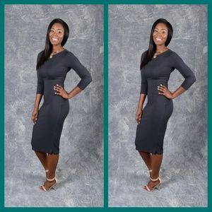 Dresses & Skirts - 🌟Midi Ribbed Body-Con Bow Tie Dress🌟