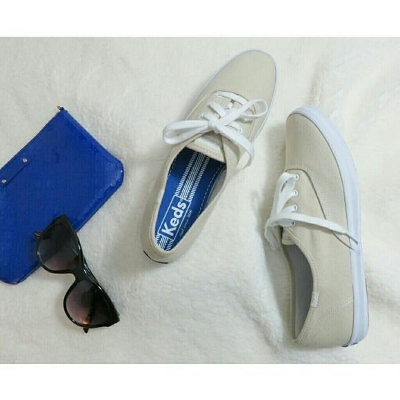 7aa6f8c190b Keds Shoes - NWOT Keds Champion Lace Up Sneaker Khaki Tan 9.5