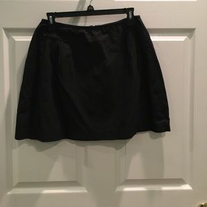 Black Skirt with Zippered Pocket Detail on Front