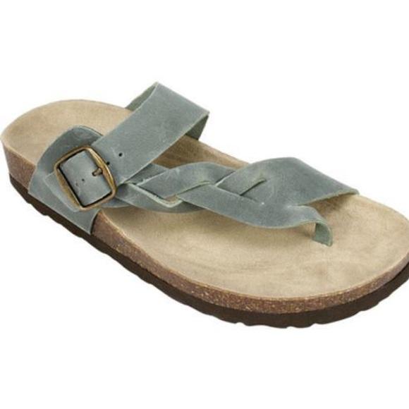NEW White Mountain Crawford Gray Sandal Leather 8