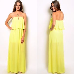 Dresses & Skirts - 🌸🌸SOFIA SHEER NEON LIME MAXI DRESS🌸🌸