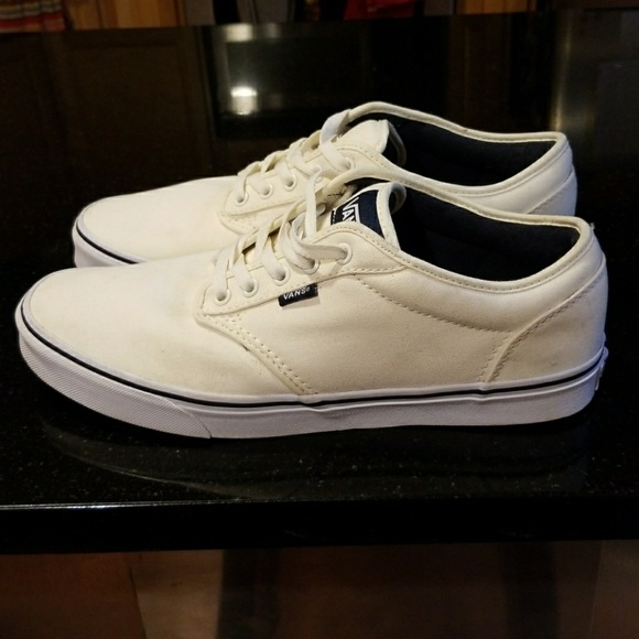 b90e6411d4 RARE COLOR - Men s Atwood Vans Off-White Navy Sz12.  M 59d725934225bee387019a3c