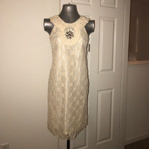 Dresses & Skirts - 🔥CHLOE Ivory lace cocktail dress size 2 brand new