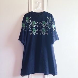 Tops - Skull Sequin T-Shirt Dress