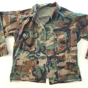 Vintage Air Force Jacket in Camo