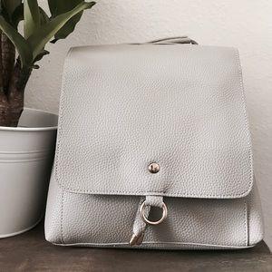 Handbags - Contemporary Vegan Leather Backpack Shoulder Bag