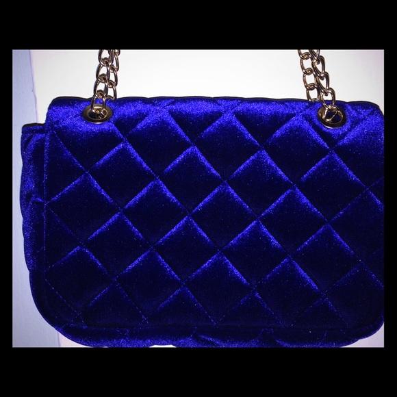 8bdd9706722ba Forever 21 Handbags - Royal blue crushed velvet Handbag