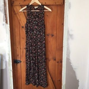 90's Vintage Sisley Semi-Sheer Floral Dress