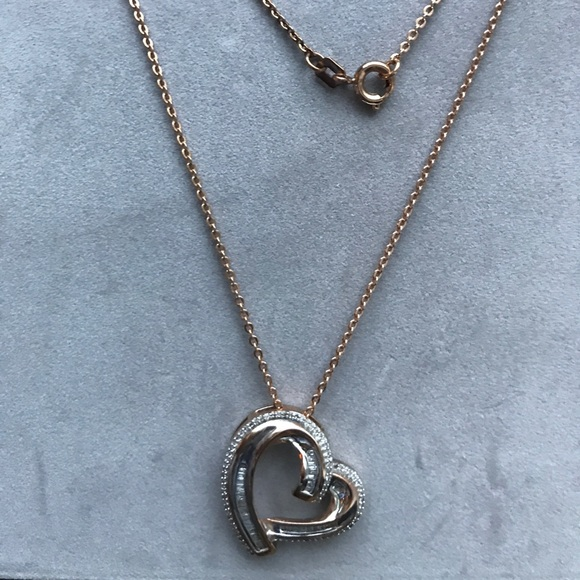 59 off jcpenney Jewelry Rose Gold Sterling Silver Heart