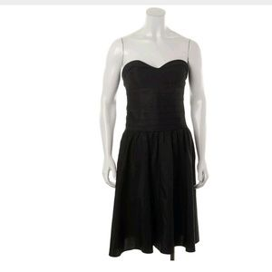 MARC JACOBS BLACK SILK FIT & FLARE DRESS 8