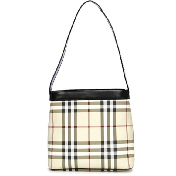06bfc9ab3091 Burberry Handbags - BURBERRY NOVA CHECK COATED CANVAS CANONBURY BAG