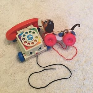 Fisher price classic toys phone and dog