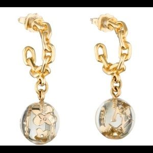 Gold tone Louis Vuitton Bubbles Inclusion Earrings
