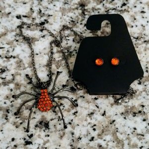 Jewelry - Halloween Spider Costume Jewelry Set
