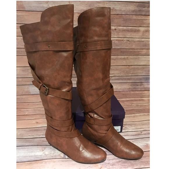 f55b86fac9 Steve Madden Shoes | Madden Girl Cognac Otk Boots | Poshmark