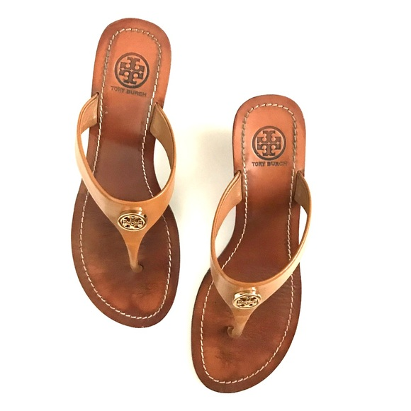 504874675f3 Tory Burch Cameron Wedge Thong Sandals. M 59d785925c12f889a8004a72