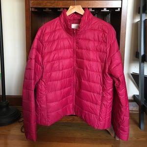 LOFT pink down puffy jacket