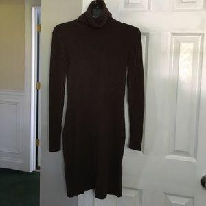 Turtle neck sweater dress, knee length